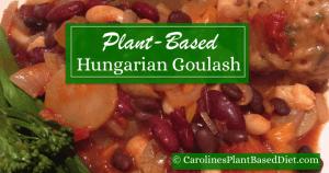 Plant Based Hungarian Goulash with Herb Dumplings