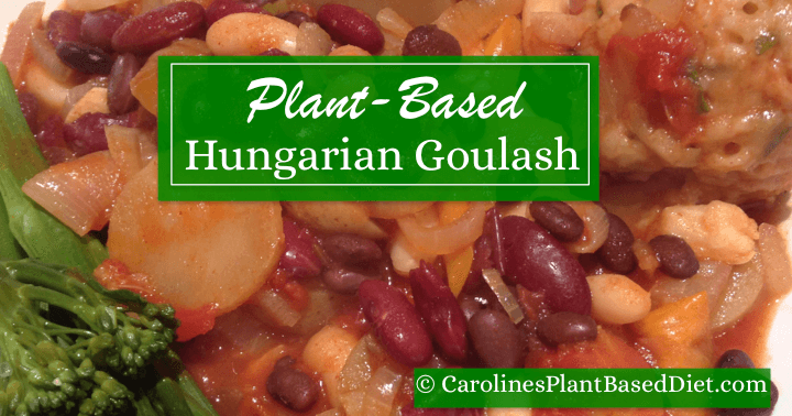 Plant Based Hungarian Goulash With Herb Dumplings