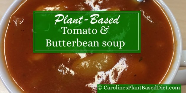 plant based tomato and butterbean soup
