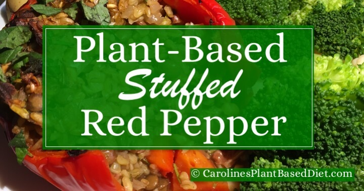 Plant-Based Stuffed Red Pepper