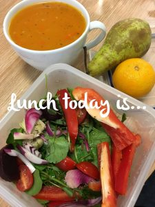 Carrot and butterbean soup with salad - Thurs 2nd Nov