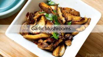 Plant-based garlic mushrooms