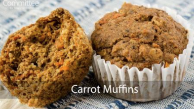 Plant-based carrot muffins