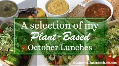 A selection of my October plant based lunches 2018